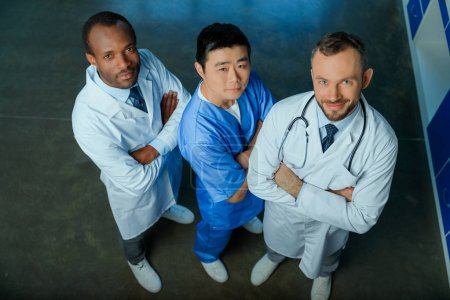 Multiracial group of doctors in clinic