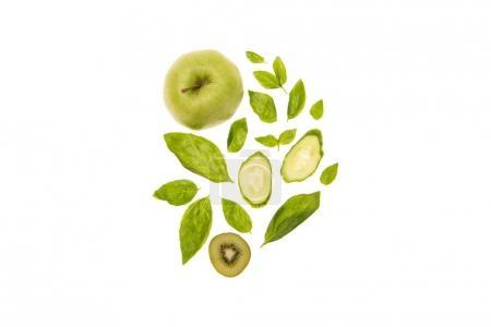 organic green fruits