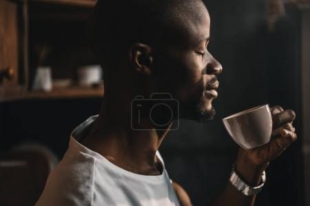 african american man with coffee