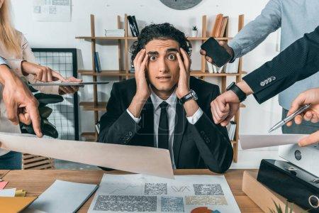 businessman missing deadline