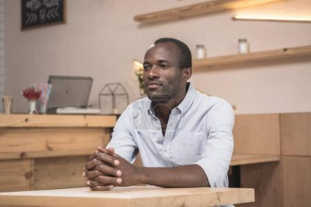 african-american man in cafe