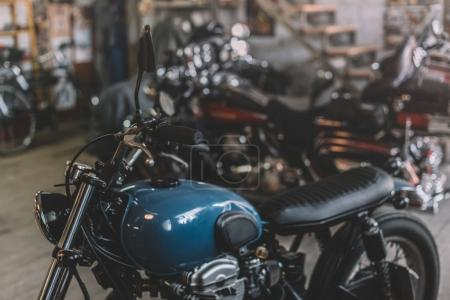 motorcycles in repair shop