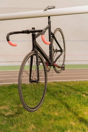 Photo for Close up view of sport bicycle at cycle race track - Royalty Free Image