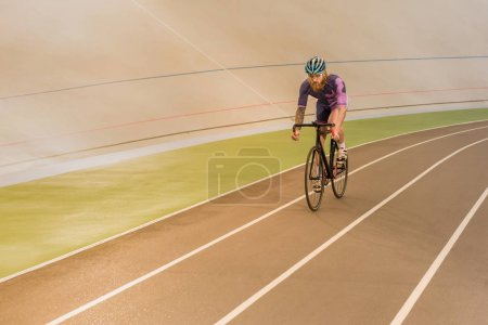 cyclist on cycle race track