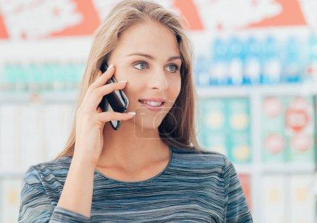 woman having phone call