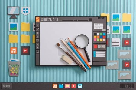 Graphic design software with real tools