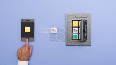 Utilisateur de sécurisation des données sur smartphone