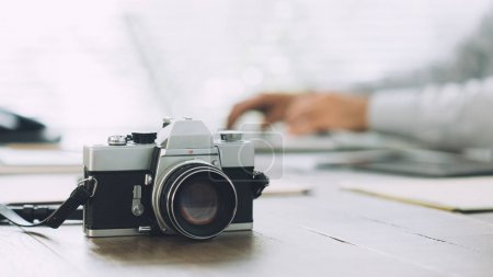 Professional photographer and vintage camera