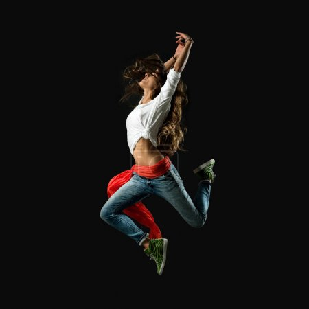 Female modern style performer dancing