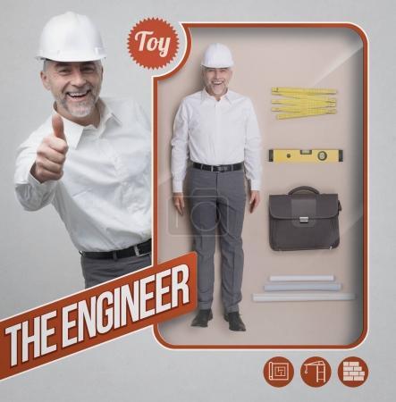 Lifelike engineer and architect doll