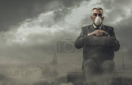 business and pollution concept