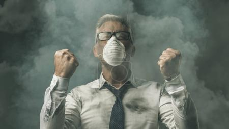 pollution and business concept