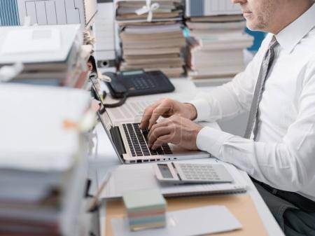 Business businessman working in office