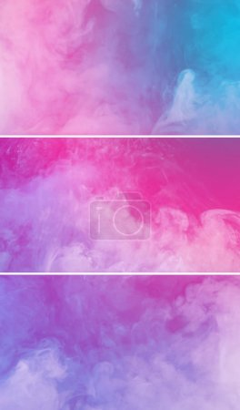 Photo for White paint spill flowing and swirling into a colorful liquid, abstract background - Royalty Free Image