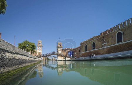 Porta dell Arsenale from inside the canal. Venice....