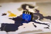 Padlock over EU map, GDPR metaphor