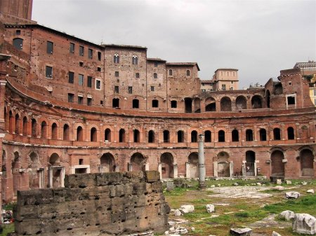 The ruins of Trajans Market in Rome