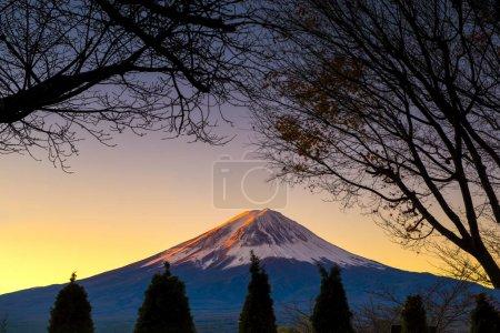 Fuji Mountain at Twilight Time, Kawaguchiko Lake, Japan