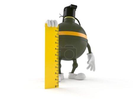 Photo pour Règle de maintien de la grenade isolée sur fond blanc. Illustration 3d - image libre de droit