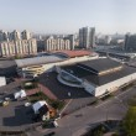 International Exhibition Centre and Kyiv cityscape