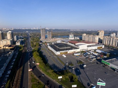 International Exhibition Centre and Kyiv cityscape