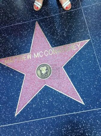Matthew McConaughey Hollywood walk of
