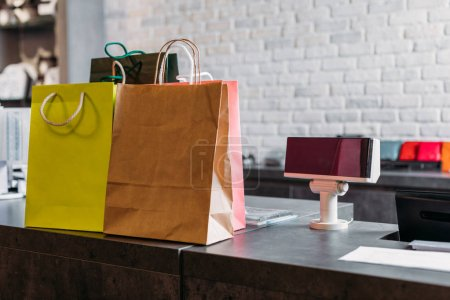 shopping bags in boutique
