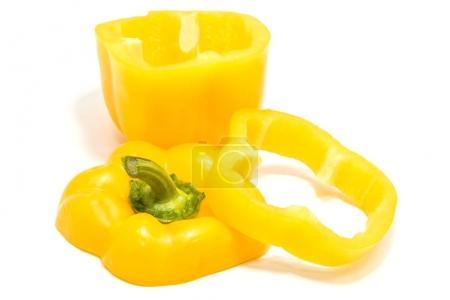 Foto de Peper bell amarillo sobre fondo blanco - Imagen libre de derechos