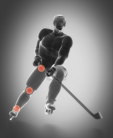 Work out and fitness concept - hockey
