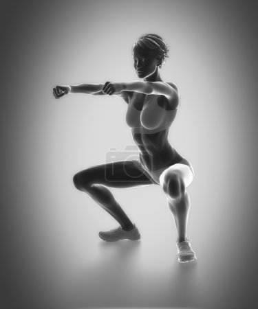 Work out and fitness concept - woman doing fitness...