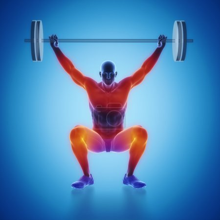 Man lifting barbell weight