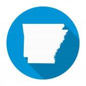 Arkansas Map Flat Icon