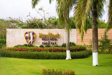 PUNTA CANA, DOMINICAN REPUBLIC - MAY 22 2017: Signboard golf club