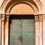 TARRAGONA, SPAIN - MAY 1, 2017: Gothic metal door....