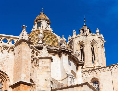 Tarragona Cathedral (Catholic cathedral) on a sunn...