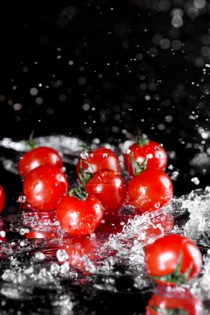 Fresh wet tomatoes