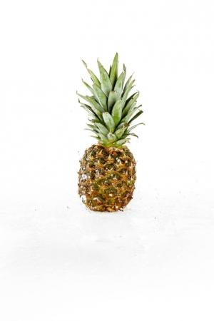 fresh pineapple with water drops