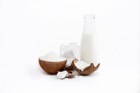 coconut milk in bottle