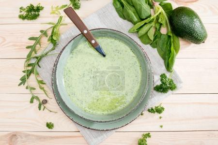 Green avocado soup