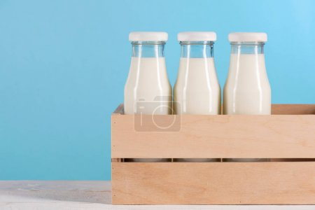 Milk in glass bottles
