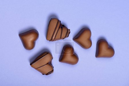 chocolate heart shaped candies
