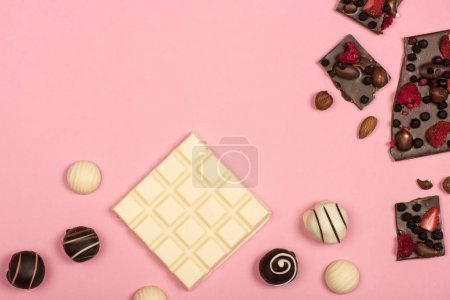 Chocolate with nuts and fruits
