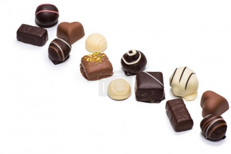 Assortment of chocolate candies