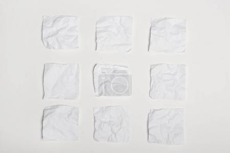 Crumpled white note papers