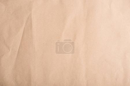 Photo for Close-up top view of old brown crumpled paper texture - Royalty Free Image