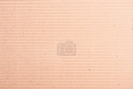 Photo for Close-up top view of blank brown striped cardboard texture - Royalty Free Image