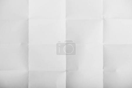 Photo for Close-up top view of white crumpled paper texture - Royalty Free Image