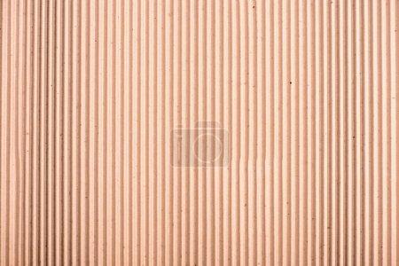 Foto de Vista superior de primer plano de textura cartulina rayas marrón en blanco - Imagen libre de derechos