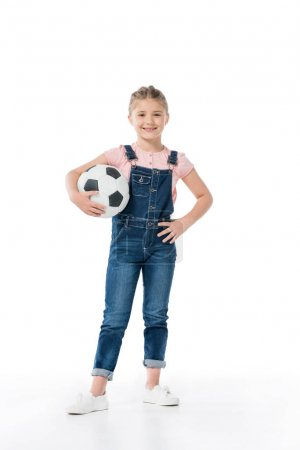 Cute kid with soccer ball