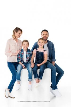 happy stylish family